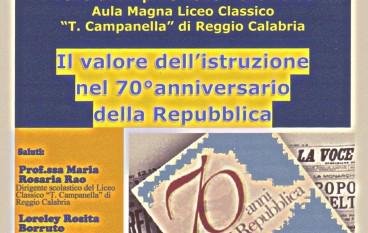 """Reggio, prevista conferenza sul """"valore dell'istruzione"""""""