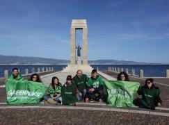 """Reggio Calabria, Greenpeace: """"L'Italia non si trivella"""""""
