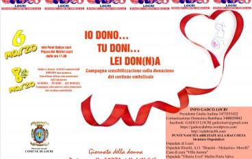 """Locri, Gadco organizza: """"Io dono… tu doni… Lei don(n)a!"""""""
