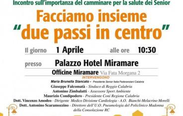 """Reggio, sul lungomare la marcia """"Due passi in centro"""""""