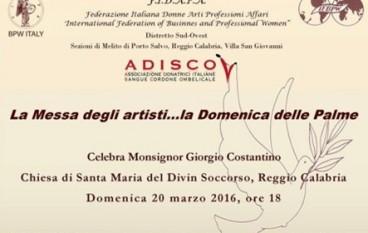 Domenica delle Palme, Le Muse alla Messa degli Artisti