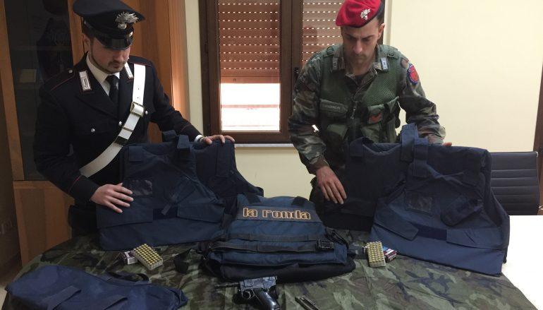 Rosarno, trovate armi e giubbotti antiproiettili: un arresto