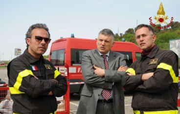 Calabria, Vigili del Fuoco: esercitazione di colonna mobile