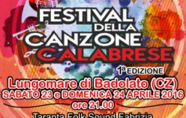 """A Badolato Marina il """"Festival della Canzone Calabrese"""""""