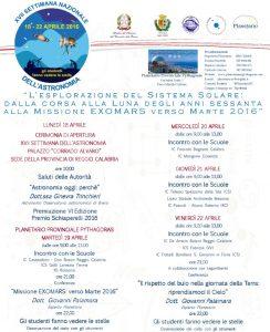 settimana nazionale astronomia