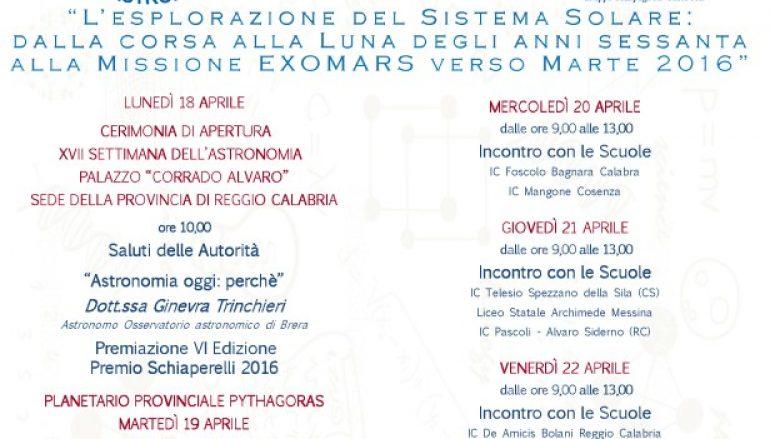 Settimana Nazionale dell'Astronomia, le iniziative al Planetario