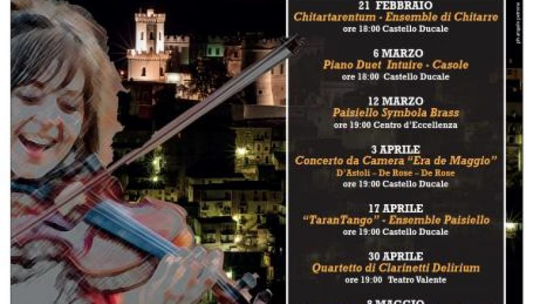 Corigliano, i prossimi eventi della stagione concertistica