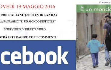 "Presentazione video su Facebook del libro ""É un mondo difficile"""