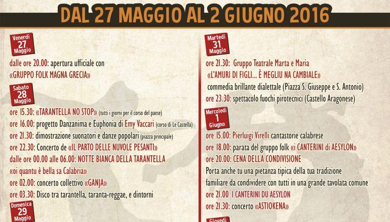 """Isola di Capo Rizzuto al via """"Le Castella Tarantella Week"""""""