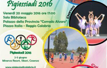 """Reggio, conferenza di presentazione delle """"Pigiessiadi 2016"""""""