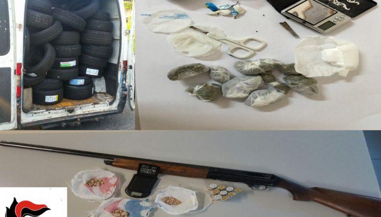 Cosenza, sequestrate armi e droga