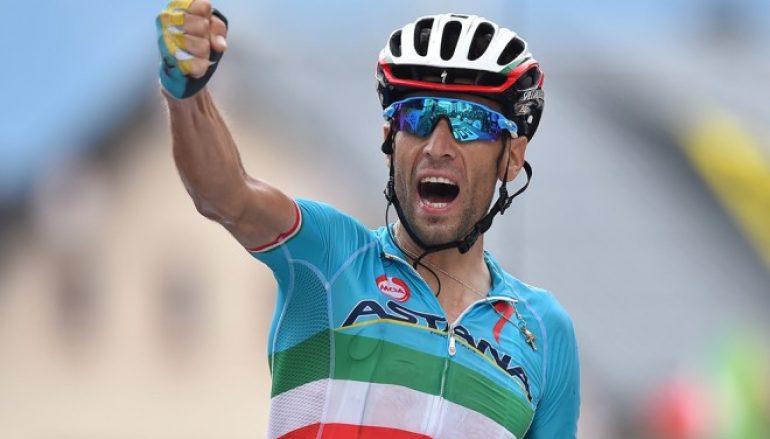Sulle montagne delle Alpi trionfa Vincenzo Nibali