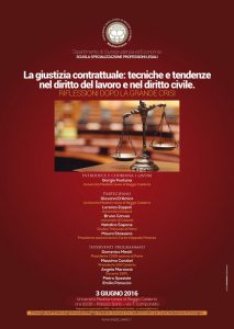 Convegno La giustizia contrattuale nel diritto del lavoro
