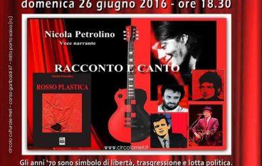"""Il """"Circolo Meli"""" presenta """"Rosso Plastica"""" di Nicola Petrolino"""