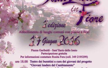 Al via la prima edizione di Sant'Ilario in Fiore