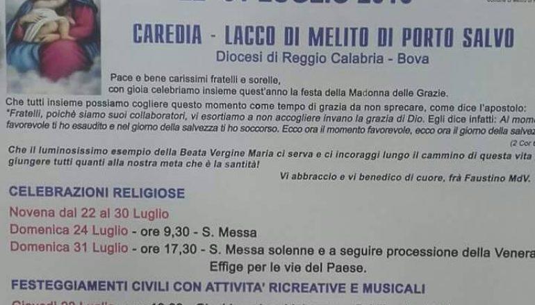 Festa a Caredia-Lacco, spettacolo di Gennaro Calabrese