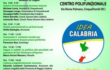 """Idea Calabria"" presenta la prima Summer School"