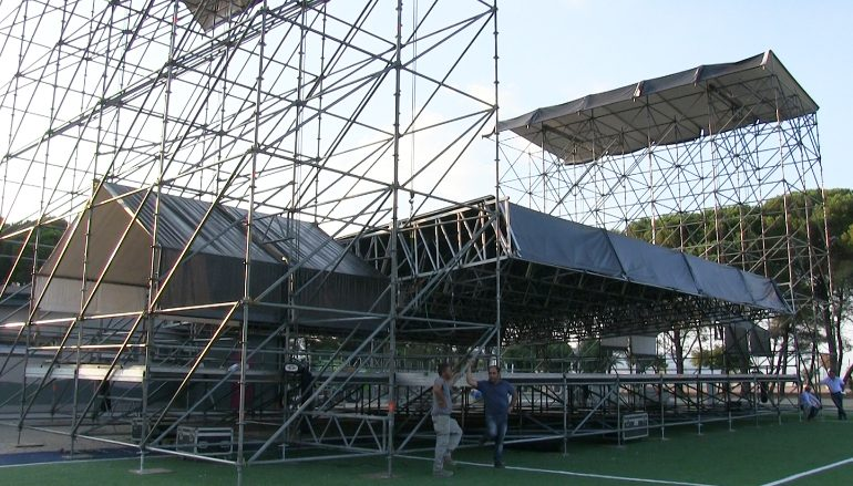 Finito l'allestimento della Summer Arena a Soverato