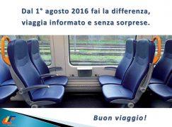 Trasporto Regionale, dall'1 agosto si rinnova il biglietto di Trenitalia