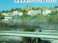 Lazzaro (RC), vasto incendio in prossimità della SS 106