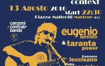 A Martone (RC) l'atteso concerto di Eugenio Bennato