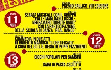 """Gallico (RC), torna la """"Festa dei Tre Quartieri"""""""