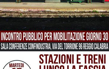 Reggio Calabria, conferenza stampa sulla Ferrovia Ionica