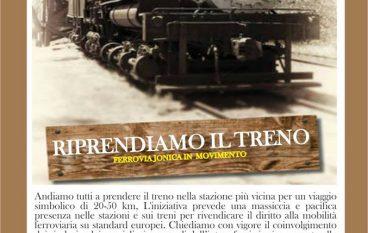 """A Crotone la manifestazione """"Prendiamo il treno"""""""