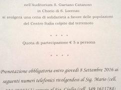 """Chorio, """"Amatriciana solidale"""" per le persone colpite dal terremoto"""