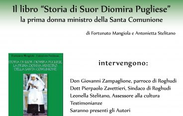 Roghudi, presentazione del libro su Suor Diomira Pugliese