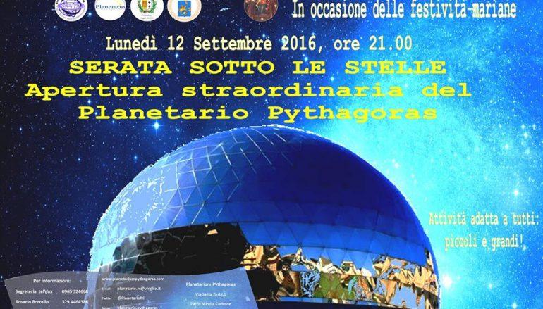 Feste mariane: al Planetario apertura straordinaria
