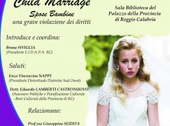 Reggio Calabria, Conferenza sulle Spose bambine