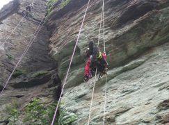 Gimigliano: addestramento del nucleo speleo alpino fluviale