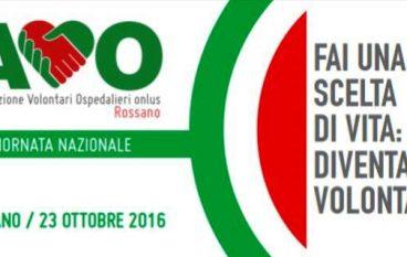 """A Rossano tutto pronto per la """"Giornata Nazionale AVO"""""""