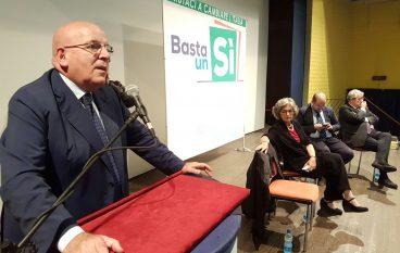 Oliverio a Cosenza per sostenere le ragioni del Sì alla riforma costituzionale