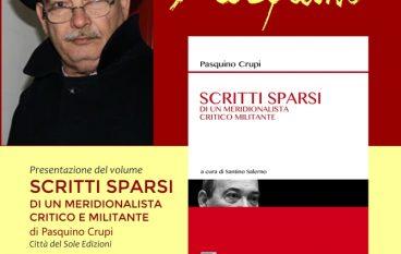"""Bovalino, presentazione del volume """"Scritti sparsi"""" di Pasquino Crupi"""
