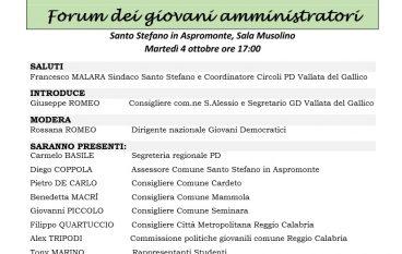 A Santo Stefano l'iniziativa organizzata dai Giovani Democratici
