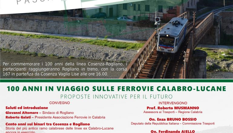 La ferrovia Cosenza – Rogliano festeggia i suoi 100 anni