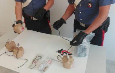 Lamezia, due arresti per detenzione e porto illegale di esplosivi