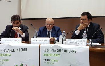 """Oliverio a Bova Marina per """"Strategie Aree interne nell'Area Grecanica"""""""