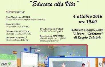 """A Reggio Calabria l'incontro """"Educare alla Vita"""" con Marziale"""