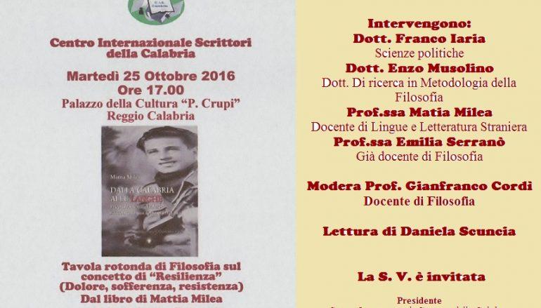 """Reggio Calabria, il CIS promuove incontro sul concetto di """"Resilienza"""""""