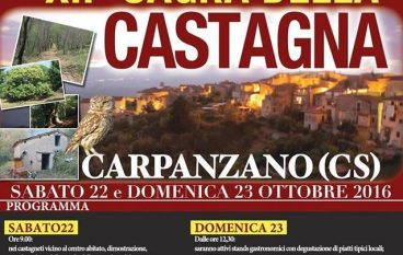 A Carpanzano (CS) la 12esima Sagra della castagna
