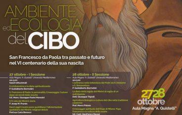 """Reggio, convegno """"Ambiente ed ecologia del cibo"""""""