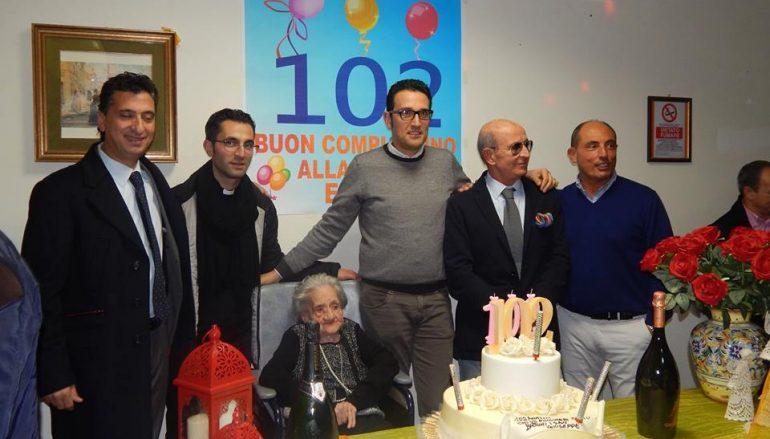 Corigliano, grande festa per i 102 anni di Elena Sculco