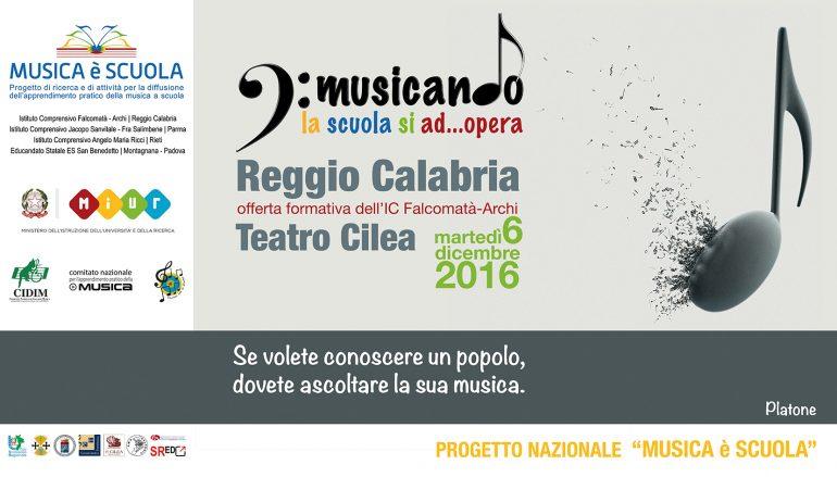 """Reggio Calabria, al via il progetto """"Musicando la scuola si AD.. Opera"""""""