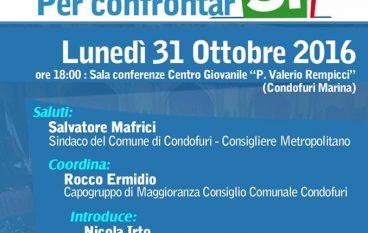 """Condofuri, svolto dibattito """"Riforma Costituzionale: per confrontarSi"""""""