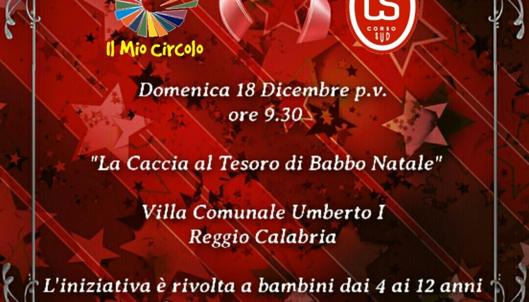 """Reggio Calabria, al via """"La Caccia al Tesoro di Babbo Natale"""""""