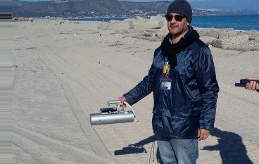 Soverato (CZ), misure campali della radioattività sulla spiaggia