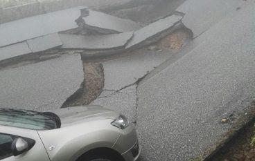 Girifalco, chiusa la strada crollata
